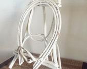 Vintage Adirondack White Bent Twig Easel / Frame