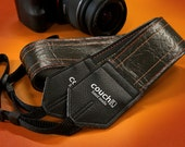 Cadillac Sunburst Vintage Camera Strap - Upcycled From Old Hardtop Vinyl