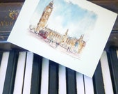 London Watercolors - set of 8 notecards