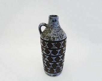 Vintage Purple Fat Lava Strehla Vase
