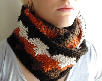 Crochet PATTERN - Spark and Ember Cowl and Fingerless Gloves