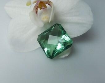 Green Fluorite, Green Fluorite Gemstone, Cushion Cut Gemstone, Custom Jewelry Design, Sea foam Green, Faceted Green Fluorite, New Hampshire