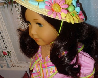 Easter Dress and Easter Bonnet  fits American Girl Dolls