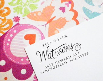 Return Address Stamp, Return Address Stamp Self Ink, Personalized Address Stamp, Custom Address Stamp, Housewarming Gift, Christmas  (T73)
