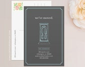 Front Door Moving Announcement Postcard / Magnet / Flat Card - New Home Card, New Address Card, New Home Announcement, Change of Address