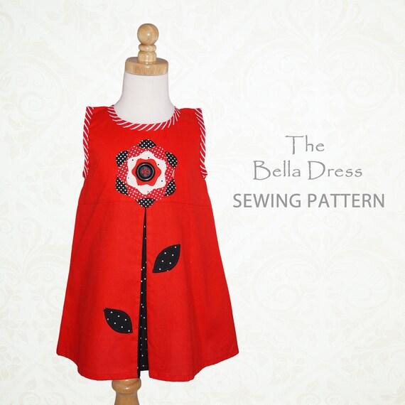 Girls dress pattern pdf, girls sewing pattern, childrens sewing pattern pdf, girls clothing pattern, pdf sewing pattern, pattern kids, BELLA