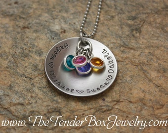 Mothers Necklace personalized hand stamped jewelry Grandma necklace Mom necklace personalized gift