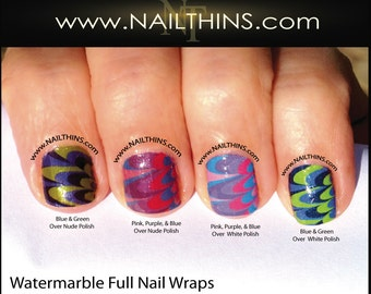 Water Marble Nail Decal Watermarble Full Nail Wraps