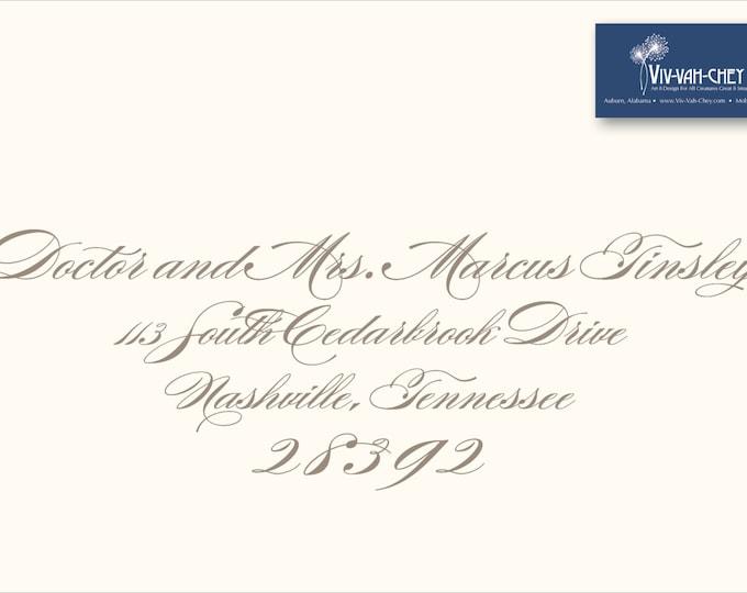 Recipient Address Envelope Printing