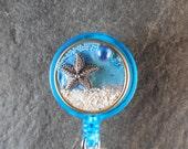 Starfish Badge, Retractable Badge Holder Badge Reel, Id Badge Clip, Badge Jewelry, Nurse ID Gift, Teacher ID Gift, Badge Reel, Magnetic ID