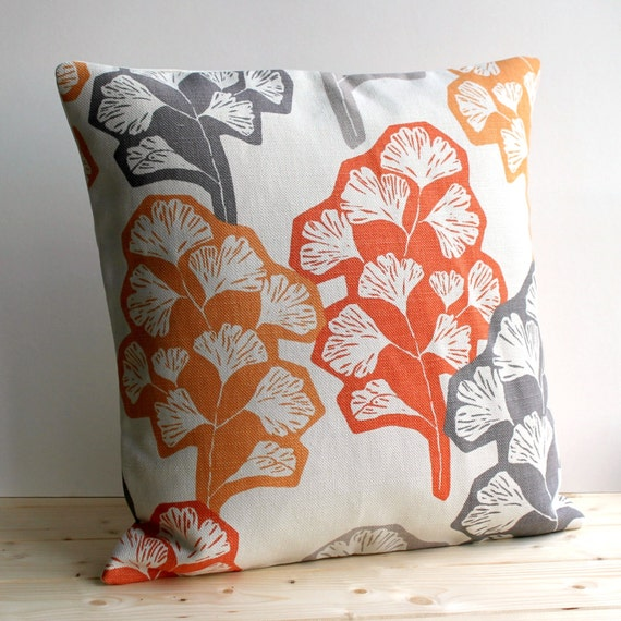 Contemporary Cushion Cover Modern Pillow Cover Orange Pillow