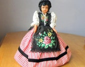 """Petitcollin Doll - Costume Doll - 1950s Doll - 9.5"""" Doll - Made in France"""