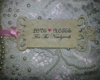100 WEDDING WISH TREE Tags Adorned with Pink  Satin Ribbon
