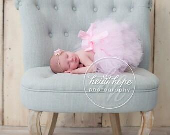 Pretty Pink Baby Tutu and  Flower Headband