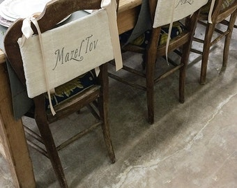 Heirloom Mazel Tov Simcha Chair Backings (cotton Blend)