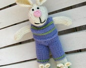 Knit Bunny Easter Rabbit - Plush Bunny - Kids Toy - Hand Knit Stuff Animal Bunny - Easter Bunny - Child Toy - Plush Doll - Easter Toy Sierra