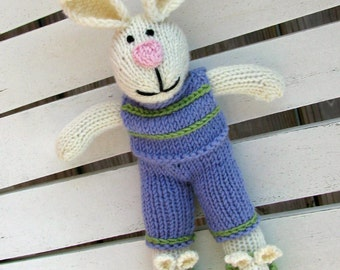 Easter Basket Gift,  Bunny Plush, Soft Toy Bunny Doll, Bunny Nursery, Knit Toy Bunny Rabbit, Plush Bunny Stuff Animal, Child Toy, Plush Doll