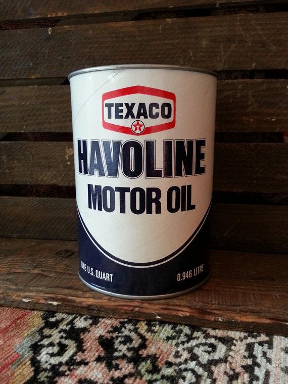 Vintage Full Texaco Havoline Motor Oil Can Unopened