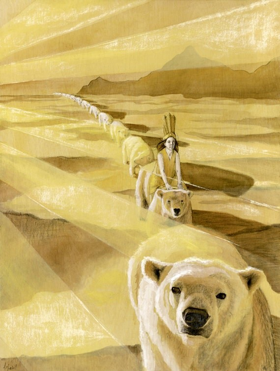 Allene: Original Illustration on Wood, 18x24in