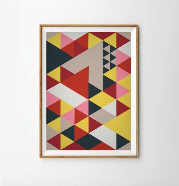 sixties art mid century posters retro art print retro. Black Bedroom Furniture Sets. Home Design Ideas