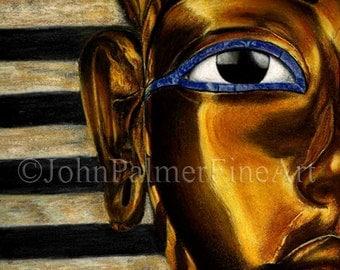 Tutankhamun Death Mask  -  print from my original pastel painting.
