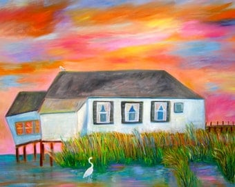 Old Shore House Original Painting