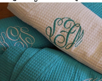 4 Wedding Robes, Personalized Bridesmaid Robe Set of 4 ,Monogrammed Robes, Waffle Robe, Personalized Bridesmaid Gifts
