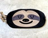 SLOTH Sleep Mask, Eye Mask, Sleeping Mask, Sloth Eye Mask, Sloth Sleeping Mask, Beauty Sleep Mask, Sloth Mask, Eyemask, BLACK Sloth