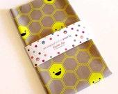 Happy Honeycomb Fabric FAT QUARTER