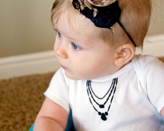 All Dressed Up Onesie - Necklace Onesie - Tie Onesie