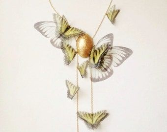 Tiger Swallowtail Cluster Lariat Necklace VERY LIMITED