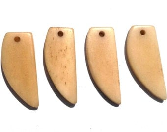 10+pc Horn Tusk Pendant, Wholesale Lot, Tea Dyed Natural Horn, Carved Horn Pendant, Claw Pendant, Jewelry Tusks, Bone Tusk