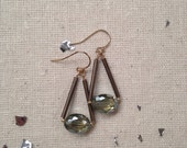 Pivot Earrings with crystals