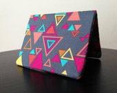 Card Wallet - Gray Geometric Triangle