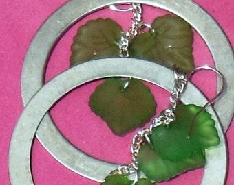 Hoops and Vines Earrings