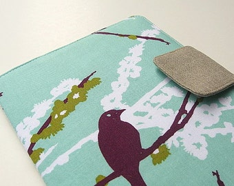 Kindle Cover Kindle Voyage Cover Kindle Fire HD Cover Nook Cover Nook Simple Touch Cover iPad Mini Cover Sparrow Bird Aqua eReader Cover