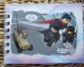 Superman Lego notebook