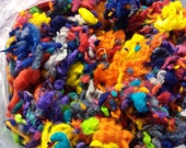 Wool Merino Nubbies multi colored felting blending texture