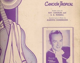 Frenesi Cancion Tropical - Ray Charles and S. K. Russell - Alberto Dominguez - 1941 - Vintage Sheet Music