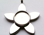 Pendant Blank Cabochon Setting 06 Stainless Steel  Sale 50 % off