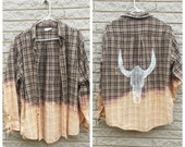 Ombre Skull Flannel