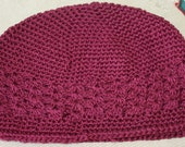 Wine Red Size Large Kufi Beanie Hat