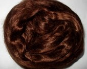 20g (32.50 Euro/100g) 0.7oz mulberry silk fiber, silk roving, MOCHA, felting fiber, doll hair, silk hair,nuno felting,brown hair,pure silk,