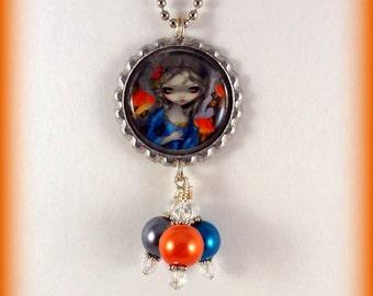 """Jasmine Becket-Griffith  """" Poisson Volants Le Poisson Rouges """"  necklace"""