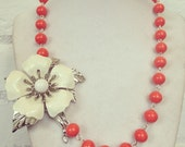 White flower necklace