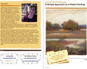 Pastel Painting Lesson Demo PDF A SIMPLE Landscape Art Tutorial  booklet Canson, marsh, sky,water