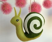 Tiny Snail Ornament in Olive