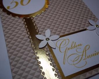 Golden Anniversary, 50th Anniversary, Happy 50th Anniversary Card, Anniversary Card, Anniversary Card For Couple, Anniversary Greeting Card