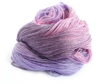 Pink purple 4ply sock yarn, superwash merino tencel, fingering wool, Buddleia, Perran Yarns, uk seller, natural fiber, yarn skein