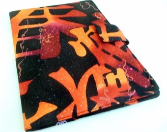 "Bright Kanji Symbols 8.9"" Kindle Fire HD Cover, Black with reds and oranges"